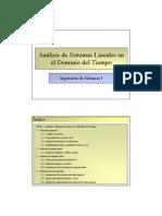 Tema 03 - Análisis de Sistemas Lineales en el Dominio del Tiempo