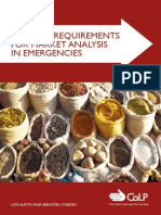 Minimum Requirements for Market Analysis in Emergencies