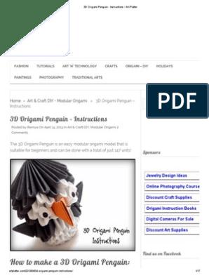 Making of 3D Origami Mini Penguin Timelapse - YouTube | 396x298