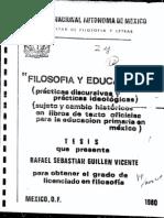 Filosofía Y Educación Prácticas Discursivas - Prácticas Ideológicas (1980) Rafael Sebastian Guillen Vicente
