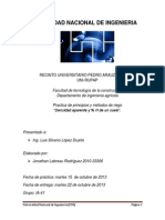 Informe de Principio de Riego (Densidad Aparente) Laboratorio #2