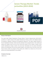 Global Testosterone Therapy Market