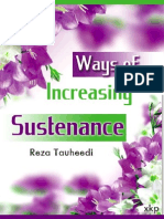 Ways of Increasing Sustenance - Reza Tauheedi - XKP
