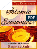 What do You Know about Islamic Economics? - Martyr Mohammad Baqir As Sadr - XKP