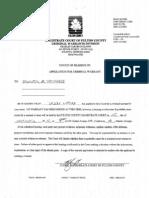 Application for Criminal Warrant Against Jennifer Sherrouse
