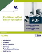 Pre to Post Silicon Verification-Ran Ceva-DSP