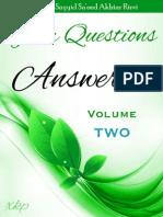 Your Questions Answered - Volume 2 - Allamah Sayyid Sa'eed Akhtar Rizvi - XKP