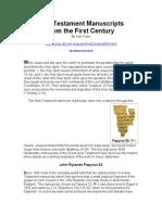 New Testament Manuscripts.doc