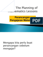 The Planning of Mathematics Lessons.ppt