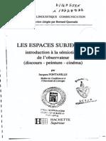 Fontanille, Jacques, Les Espaces Subjectifs
