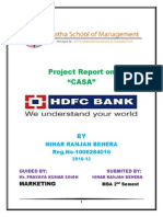 "Project Report on""CASA"" in HDFC"