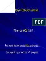 Behavior Analysis History