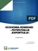 Economia Romaniei Potentialul Exportului
