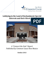 Lobbying in the Land of Enchantment - Special Interests and their Hired Guns