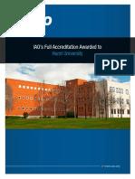 IAO awards full accreditation to Hurst University.