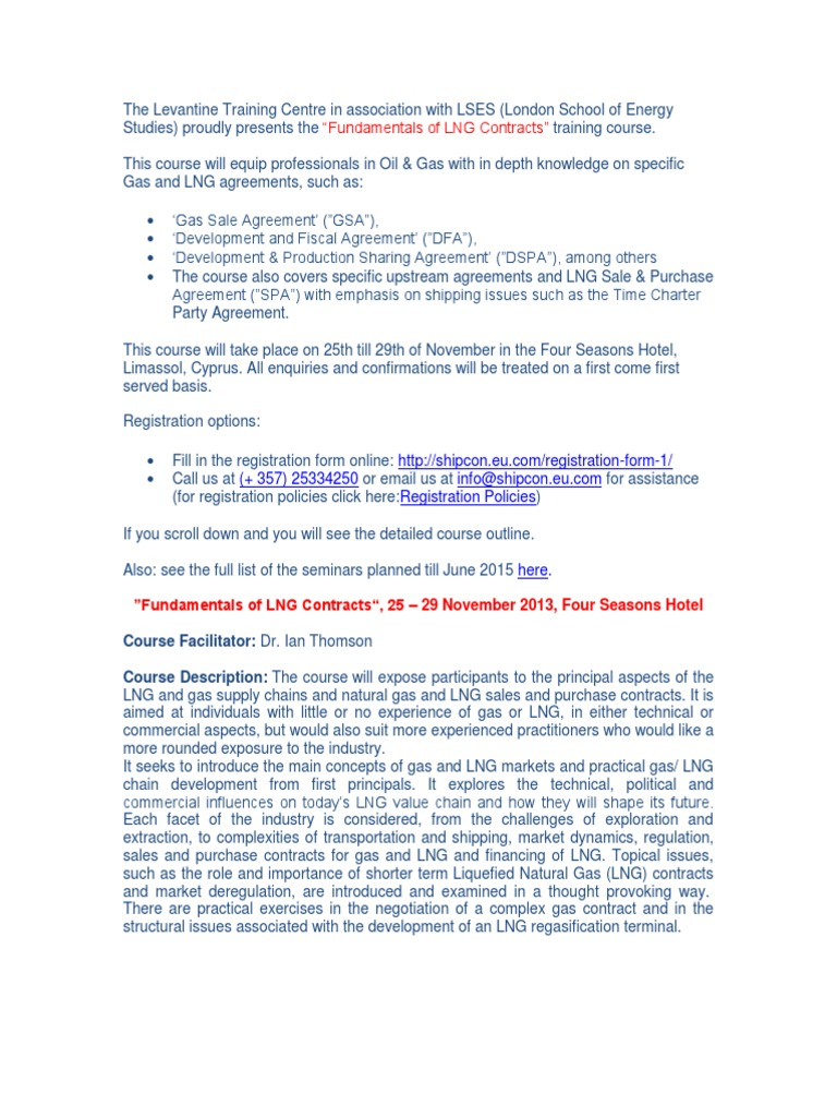 Fundamentals Of Lng Contracts Liquefied Natural Gas Natural Gas
