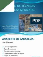 Manejo de Tecnicas Anestesicas Neonatal - Redveneo