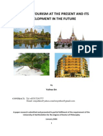 CAMBODIA TOURISM AT THE PRESENT AND ITS DEVELOPMENT IN THE FUTURE