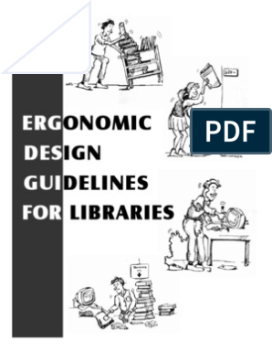 Ergonomic Design Guidelines For Libraries Final Pdf Human Factors And Ergonomics Anatomical Terms Of Motion