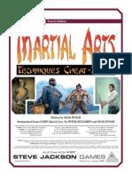 Martial Arts - Techniques Cheat-Sheet