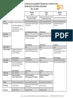 Cto Sample Schedule