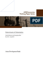 Determinants of Urbanization