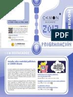 CAMON Alicante. Programación Noviembre 2013. Obra Social. Caja Mediterráneo