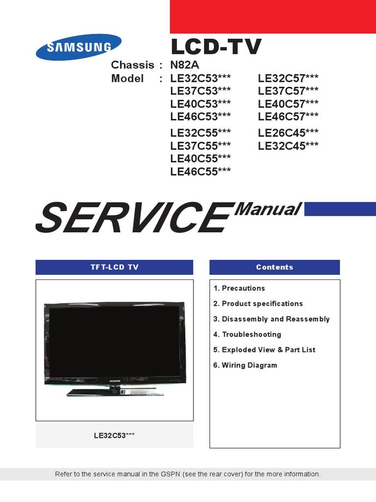 le32c550j1w service manual electrostatic discharge hdmi rh scribd com service manual ld3288m service manual downloads