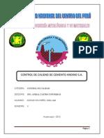 Control de Calidad de Cemento Andino s.a.