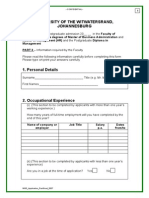 Postgrad Application Form Part 3