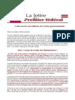Lettre Ouverte Aux Militants Sur l'Action Gouvernementale - JM
