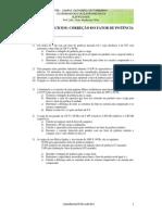 Lista de Exercícios CORREÇÃO DO FATOR DE POTÊNCIA