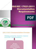 ISO/IEC 17021 Documentation Requirements
