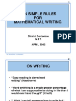 Ten_Rules for Math Writing