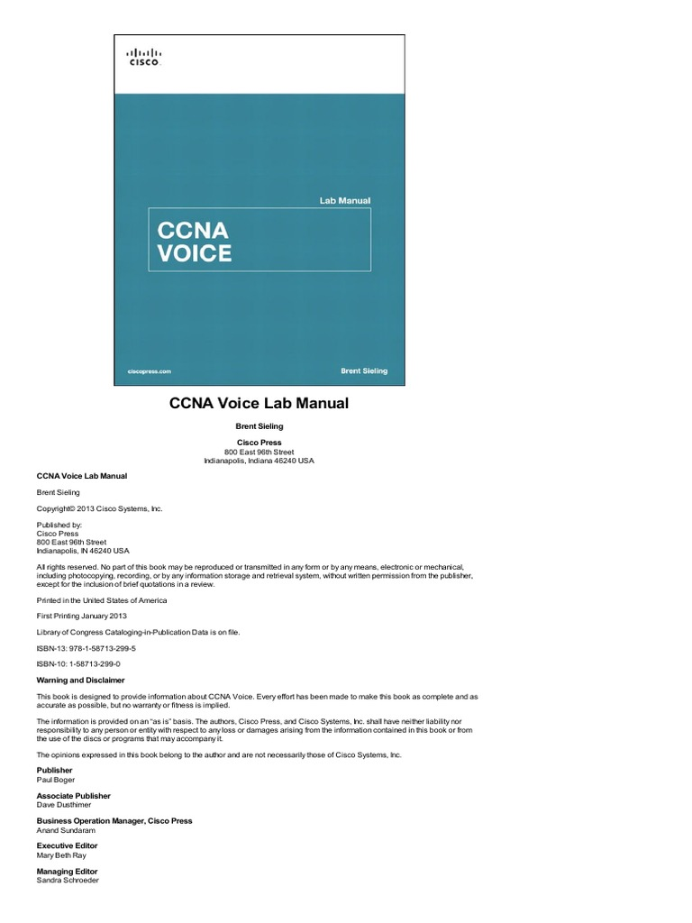 Ccn a voice lab manual cisco certifications router computing fandeluxe Choice Image