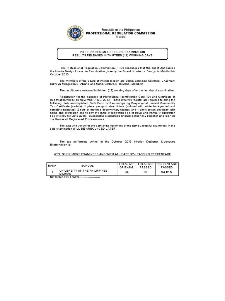 Interior Design Licensure Examinationpdf