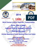 2014 CABA Rule Book
