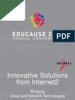 Innovative Solutions from Internet2