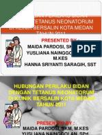 Perilaku Bidan Dengan Tetanus Neonatorum Di Klinik Bersalin