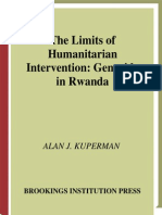 Alan J. Kuperman the Limits of Humanitarian Intervention Genocide in Rwanda 2001