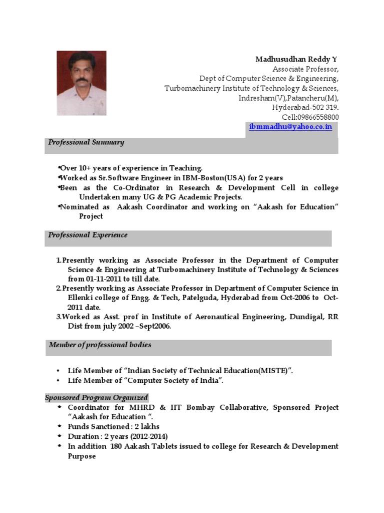 Cute Iit Students Resume Pdf Gallery - Professional Resume Example ...