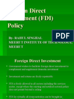Foreign Direct Investment Policy of India