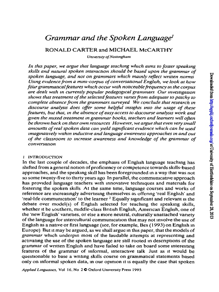 Carter and mcarthy grammar and the spoken languagepdf clause carter and mcarthy grammar and the spoken languagepdf clause phrase fandeluxe Image collections