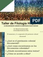 Taller de Filología Hispánica