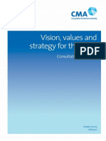 CMA Vision, Values & Strategy