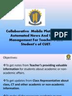 Collaborative  Mobile Platform