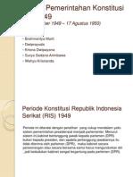 Sistem Pemerintahan Konstitusi RIS 1949