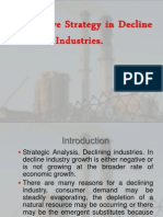 Presentation on Competitive Strategy in Declining Industries