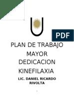 Plan de Trabajo Mayor Dedicacion Lic. Daniel Rivolta