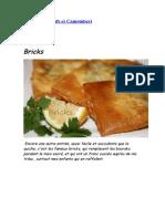 Bricks Aux Oeufs Et Camembert